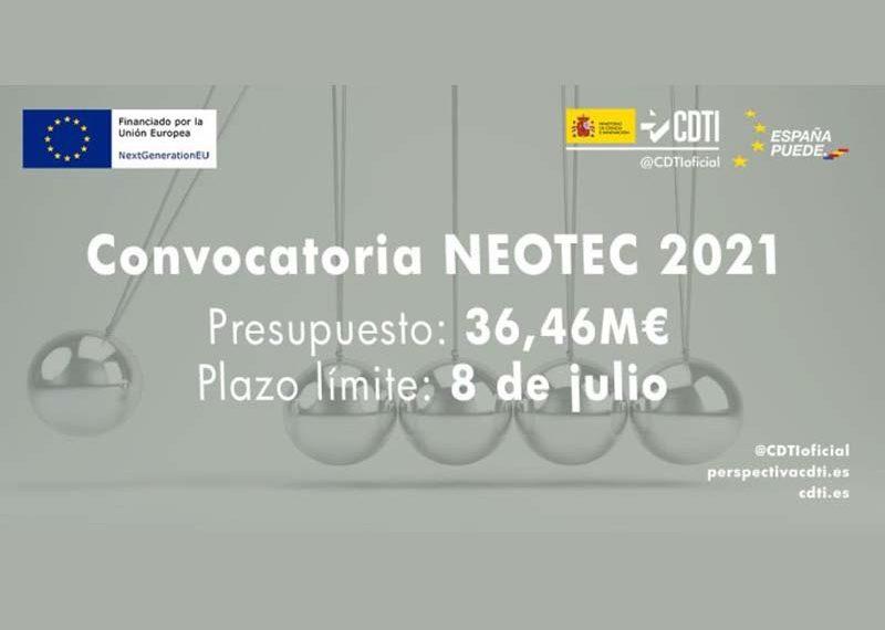 El Ministerio de Ciencia e Innovación lanza la nueva convocatoria NEOTEC con 36,5 millones en subvenciones para empresas de base tecnológica